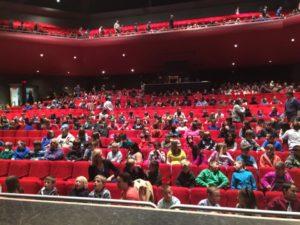 Students take seats